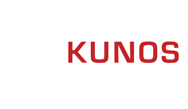White and red logo of software developer Kunos Simulazioni